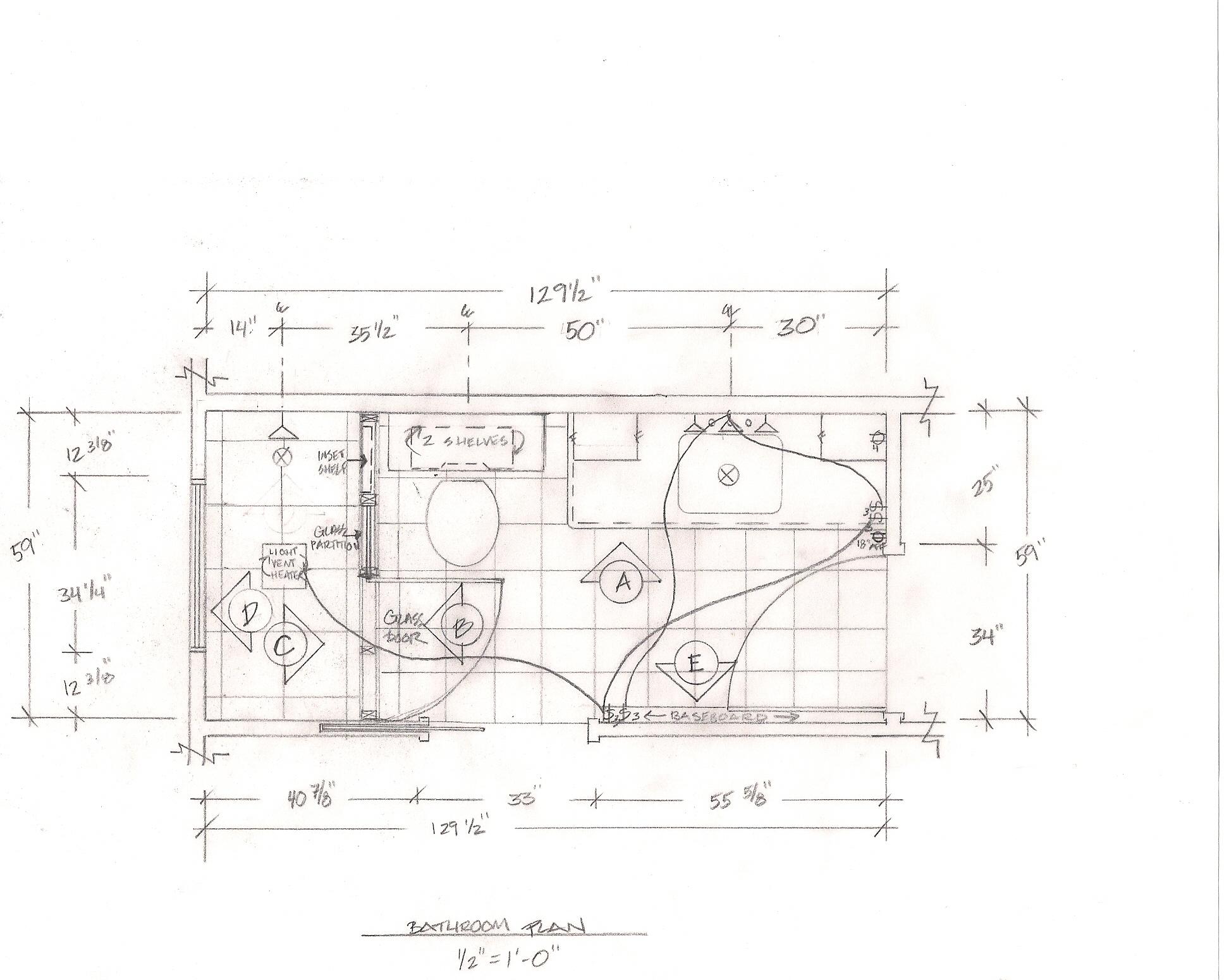 Master Bathroom Floor Plans Walk In Shower Showing A Walk In Shower